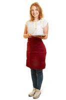 Frau macht Ausbildung zur Restaurantfachfrau