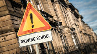 Street Sign DRIVING SCHOOL
