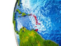Caribbean on 3D Earth