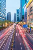 shanghai downtown cityscape
