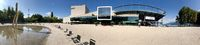 Panoramic view of the Bregenz Opera House