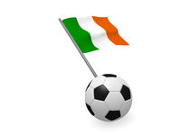 Soccer ball with the flag of Ireland