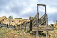 old sheep corral with loading ramp