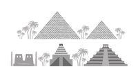 Pyramids and Temples of Ancient Egypt, Babylon, Maya.