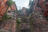Leshan giant buddha in Sichuan China
