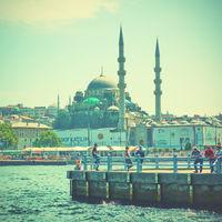 Eminonu pier in Istanbul