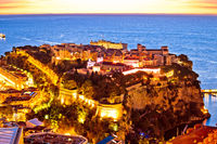 Amazing Monaco old town on the hill sunrise view