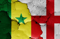 flags of Senegal and England