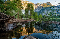 Merced River landscape in Yosemite