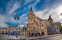 Cathedral of San Giovanni Battista in the baroque town Ragusa in Sicily, Italy