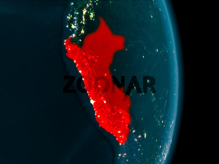 Peru at night