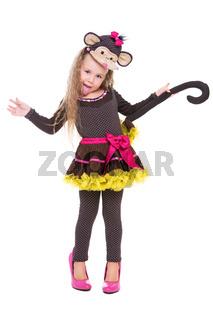Joyful little girl