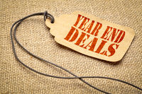year end deals text on a price tag