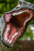 Close up of Velociraptor sharp teeth