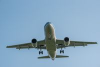 Air China Airbus A319 commercial airplane against sky
