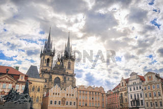 Buildings from  Old Town of Prague City