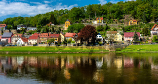 Die Stadt Wehlen in Sachsen