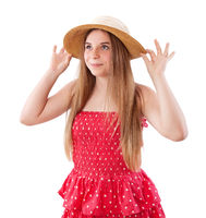 pretty girl in summer dress