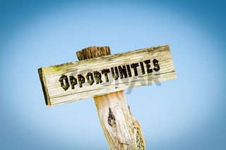 Street Sign to Opportunities