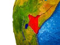 Kenya on 3D Earth