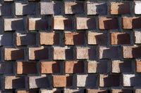 interessante Backstein-Fassade