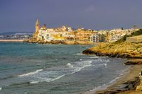 Sitges an der Costa Dorada in Spanien - Sitges near Barcelona, Costa Dorada, Catalonia in Spain