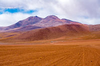 Hilly landscape at the dormant volcano in Uyuni
