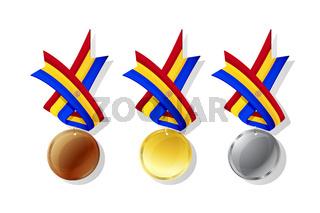 Andorrian vector medals set