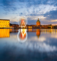 Landmark scene of Toulouse, France