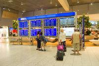 People departure Frankfurt International Airport