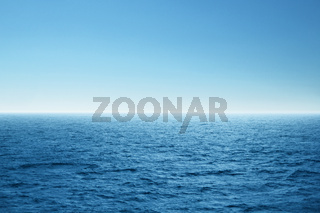 Blue open sea. Environment,travel and nature concept