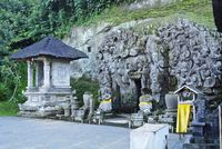 Entrance of the Goa Gajah also known as Elephant Cave, Indonesia