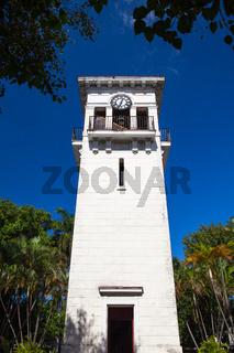 An old clock tower in the Minamar district in Havana, Cuba