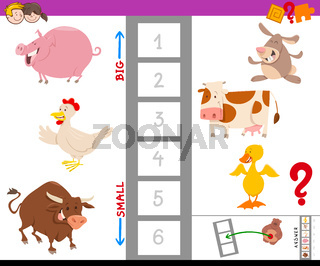 game with large and small animal characters