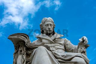 Himboldt Statue in Berlin