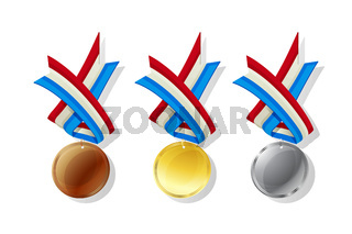 Luxembourg vector medals set
