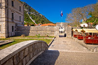 Ston town gate and walls view
