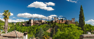 Famous ancient arabic fortress of Alhambra in Granada, Spain.