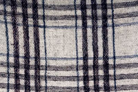 Plaid in white and blue