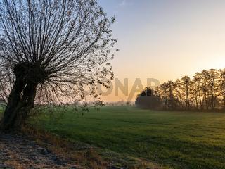 Sonnenaufgang in der Uckermark, Brandenburg, Deutschland
