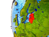 Baltic States on 3D Earth