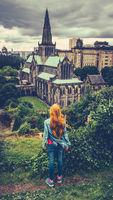 Redheaded Girl In Glasgow