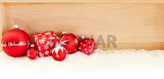 Weihnachten Header mit Frohe Weihnachten Gruß