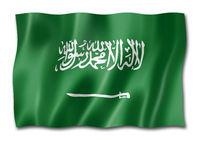 Saudi Arabia flag isolated on white