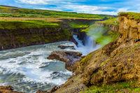 Water crash into a narrow gorge