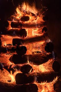 Bonfire of Saint John typical of brazilian folklore