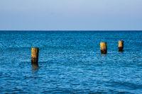 Buhne an der Ostseeküste bei Graal Müritz