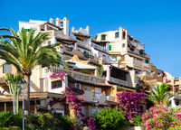 Mediterranean architecture at the idyllic small town of Cala Fornells