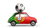 Portugal football car