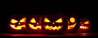 Halloween Pumpkins in darkness